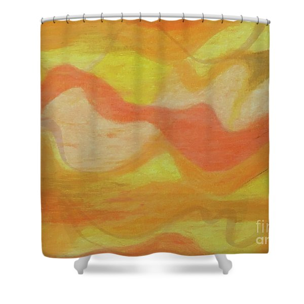Orange Colors 1 Shower Curtain