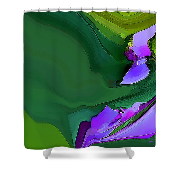 Orchids And Emeralds Shower Curtain