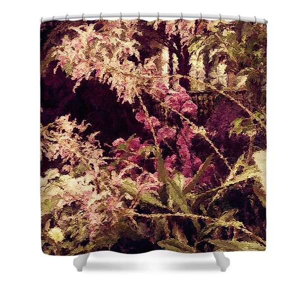 Orchids In The Atrium Shower Curtain