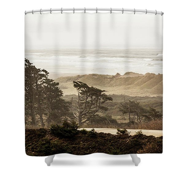 Oregon Waterfront Shower Curtain