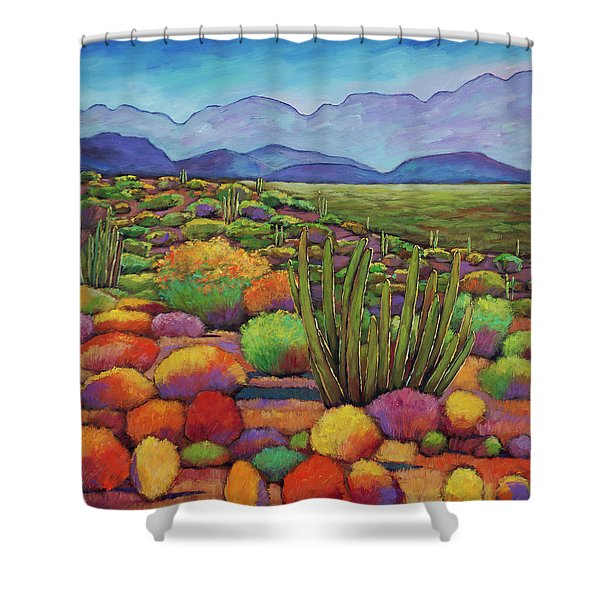 Organ Pipe Shower Curtain