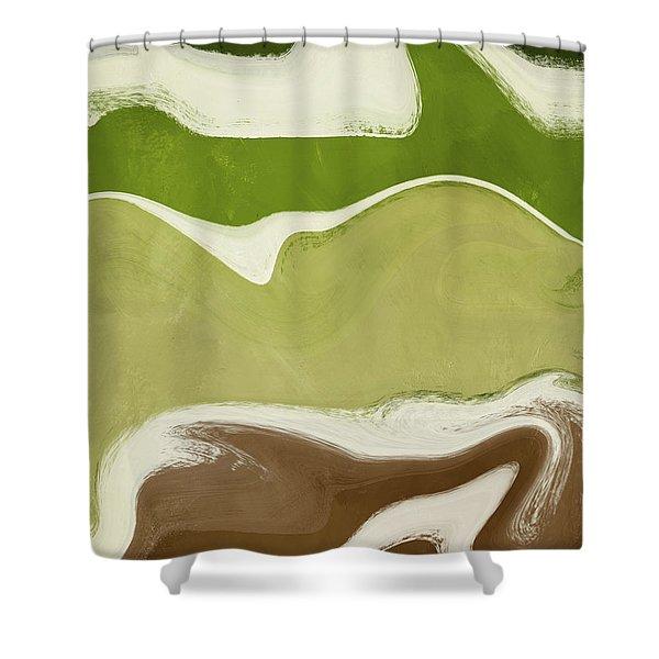Organic Wave 1- Art By Linda Woods Shower Curtain