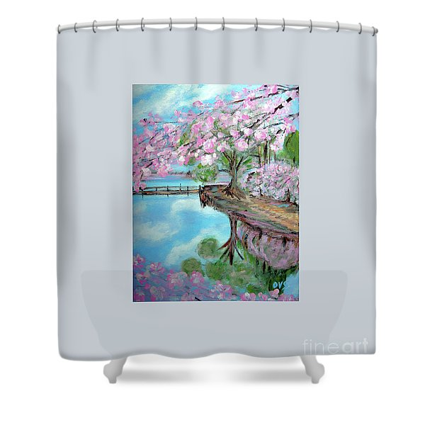 Original Painting. Joy Of Spring. Shower Curtain