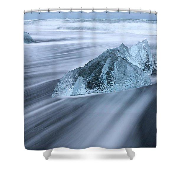 Ornate Ice Shower Curtain