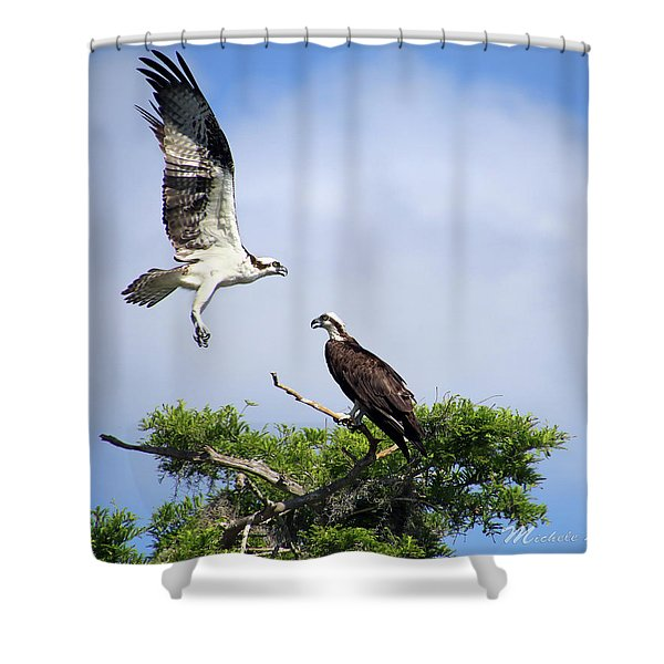 Ospreys At Blue Cypress Lake Shower Curtain