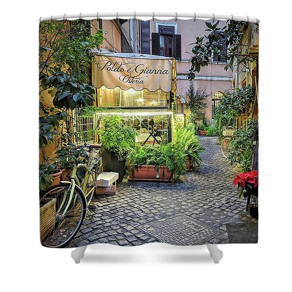 Osteria Roma - Jo Ann Tomaselli Shower Curtain