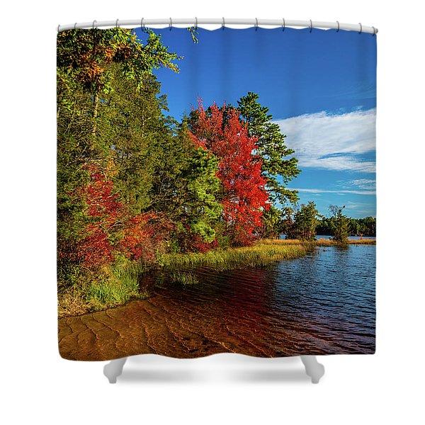 Oswego Lake Pinelands Shower Curtain
