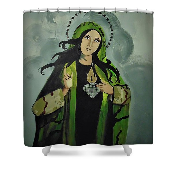 Our Lady Of Veteran Suicide Shower Curtain
