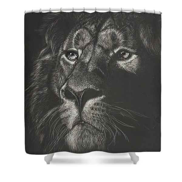 Out From The Dark Shower Curtain