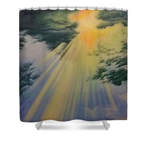 Out Of Darkness His Light Shall Shine Shower Curtain