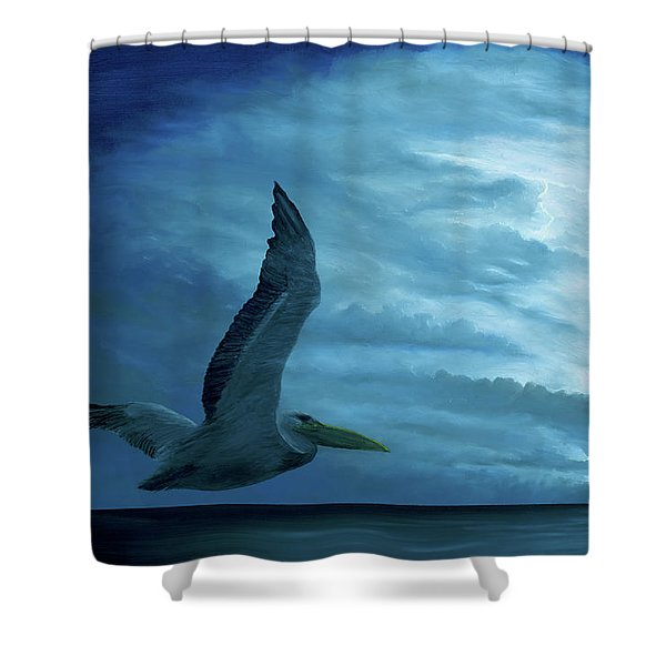 Shower Curtain featuring the painting Out Of The Blue by Kevin Daly