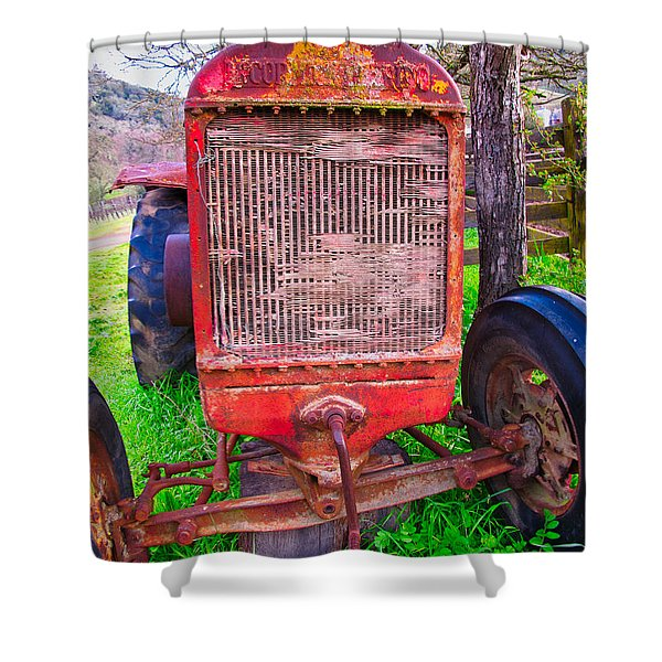 Shower Curtain featuring the photograph Out To Pasture by Tom Gresham