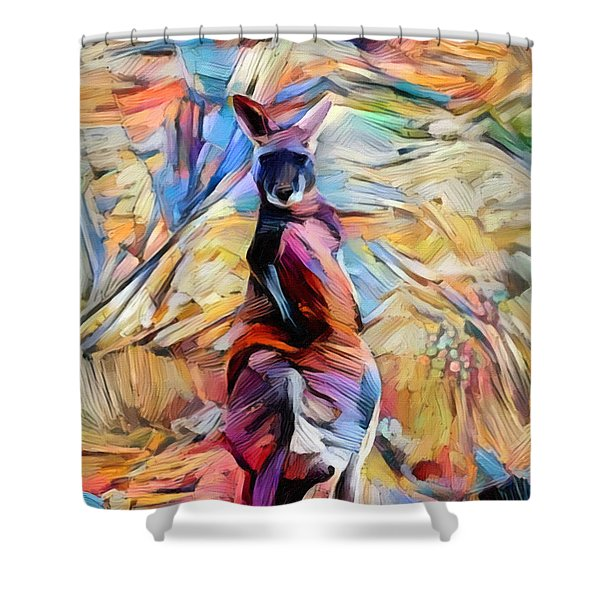 Outback Roo Shower Curtain