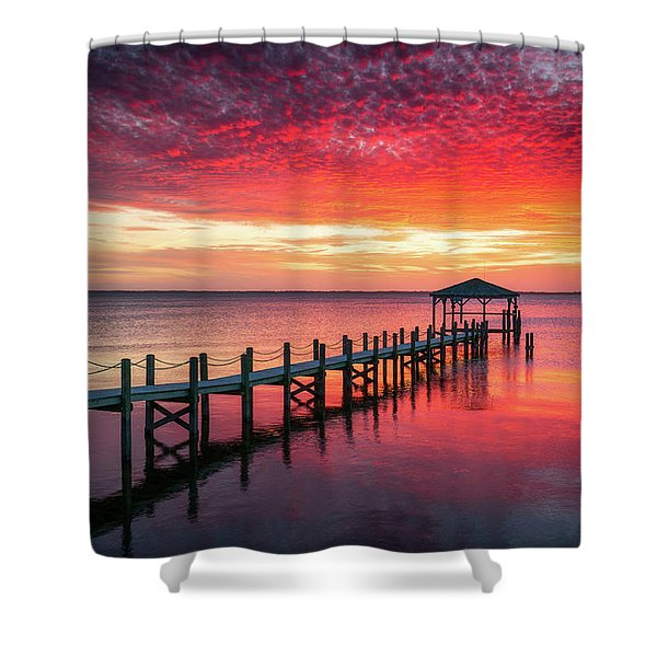 Outer Banks North Carolina Sunset Seascape Photography Duck Nc Shower Curtain