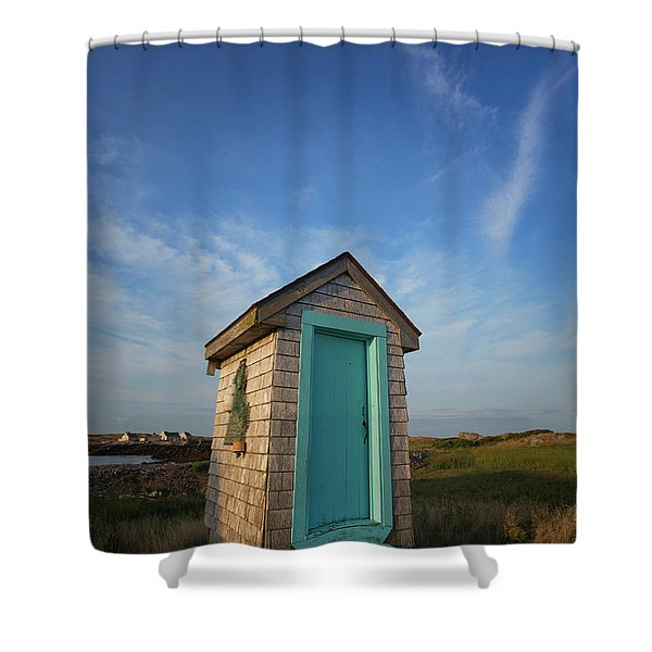 Outhouse, Matinicus Island, Knox Shower Curtain