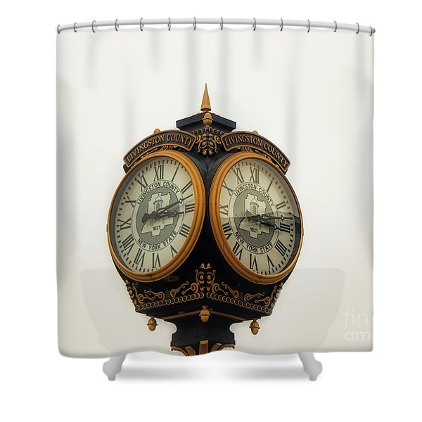 Outside Timepiece Shower Curtain