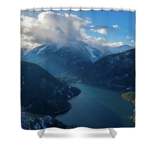 Over Diablo Lake Cloudscape Shower Curtain
