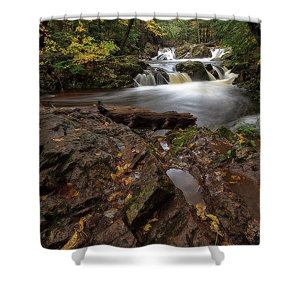 Shower Curtain featuring the photograph Overlooked Falls 3 by Heather Kenward