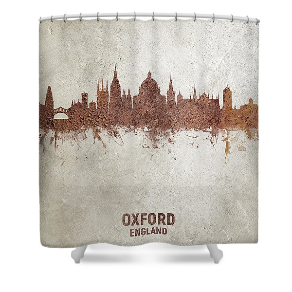 Oxford England Rust Skyline Shower Curtain