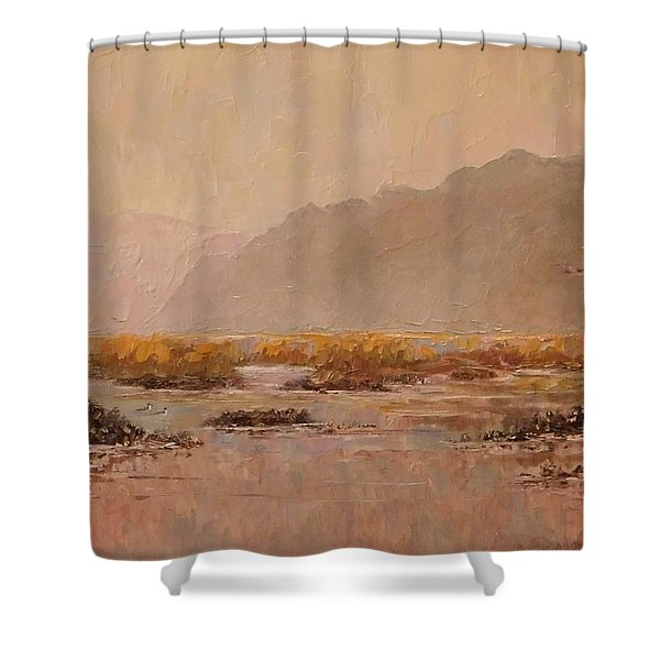 Oyster Beds Emerging Shower Curtain
