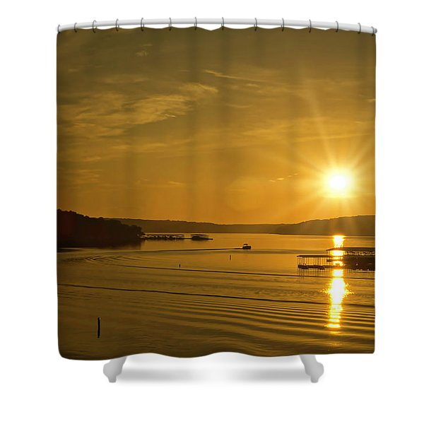 Shower Curtain featuring the photograph Ozark Sunrise by Meta Gatschenberger