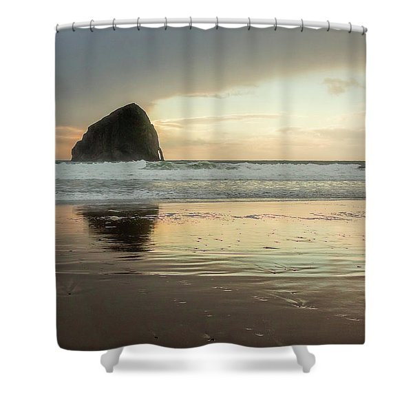 Pacific City Sea Stack Shower Curtain