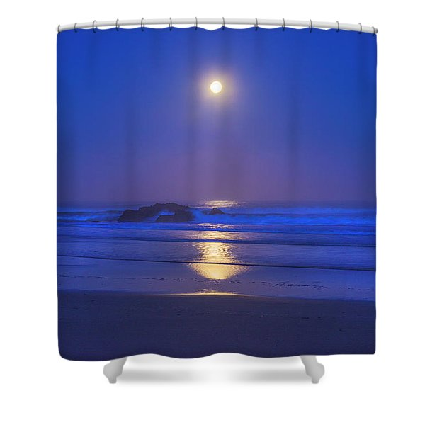 Pacific Moon Shower Curtain