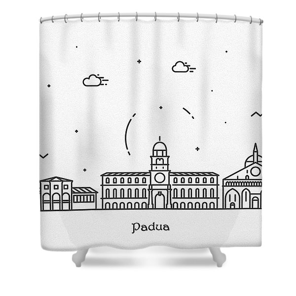 Padua Cityscape Travel Poster Shower Curtain