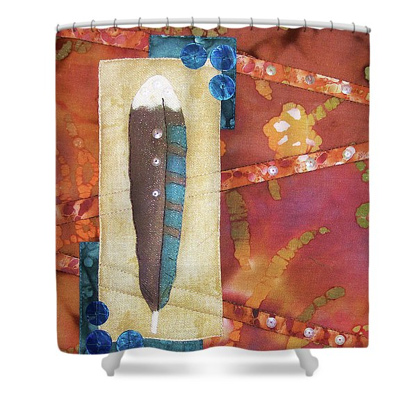 Painted Feather Shower Curtain