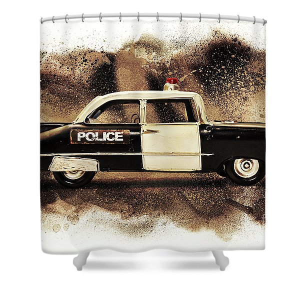 Painted Patrol Shower Curtain