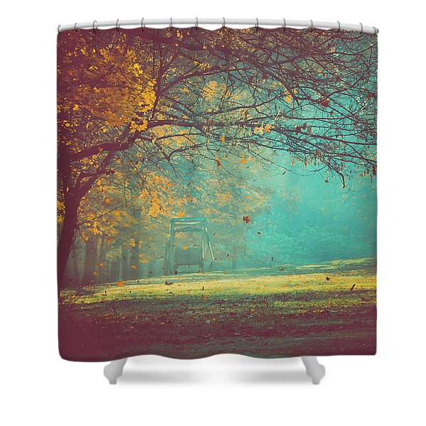 Painted Sunrise Shower Curtain
