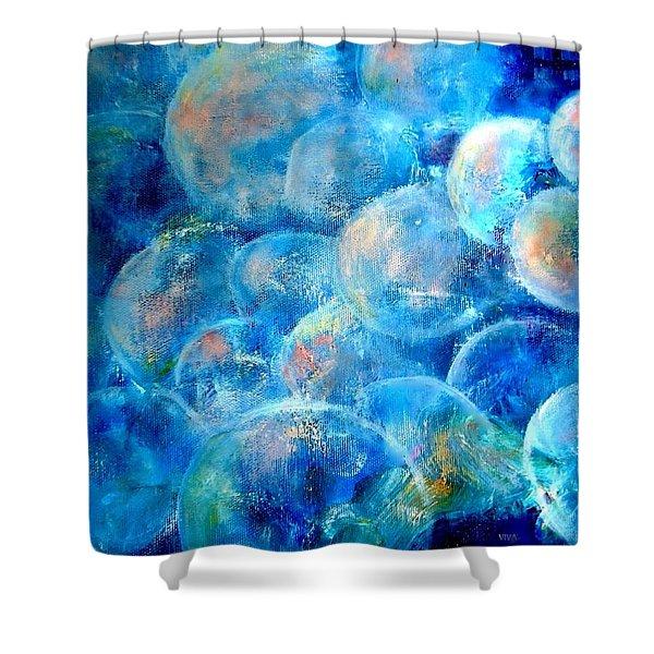 Painterly Bubbles Shower Curtain