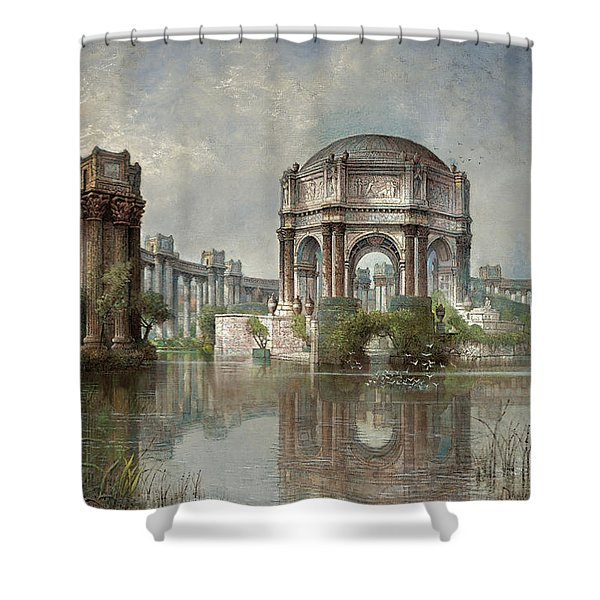 Palace Of Fine Arts And The Lagoon, 1915 Shower Curtain