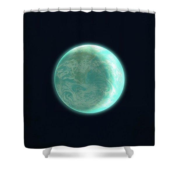 Pale Blue Dot Shower Curtain