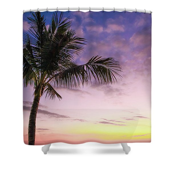 Shower Curtain featuring the photograph Palm In Paradise by Emily Johnson