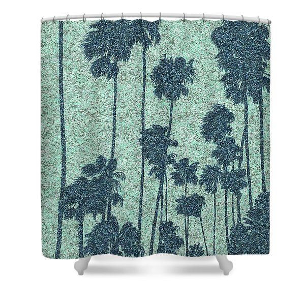 Palms Over Palisades No. 2 Shower Curtain