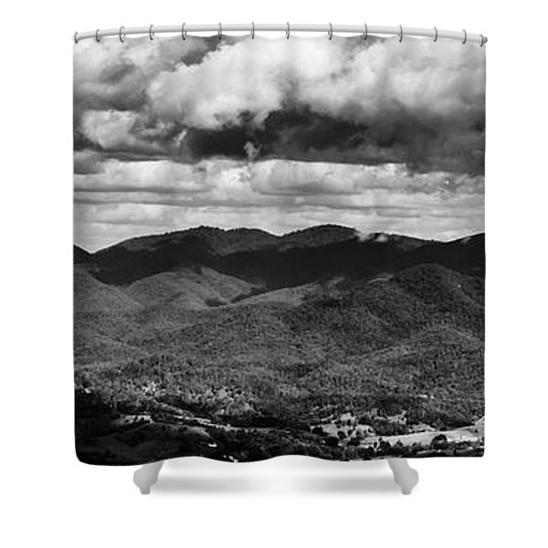 Panorama Melodrama Shower Curtain