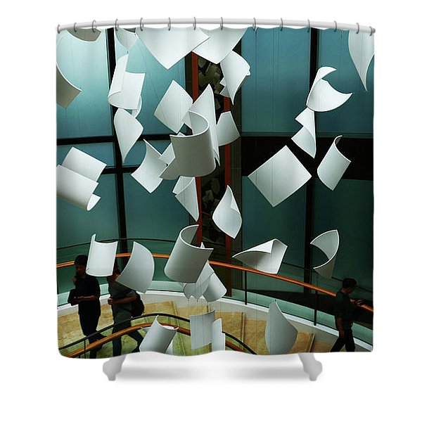 Papers Shower Curtain