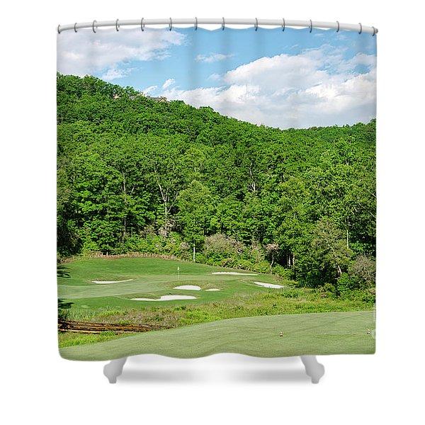 Par 3 Hole 16 Shower Curtain
