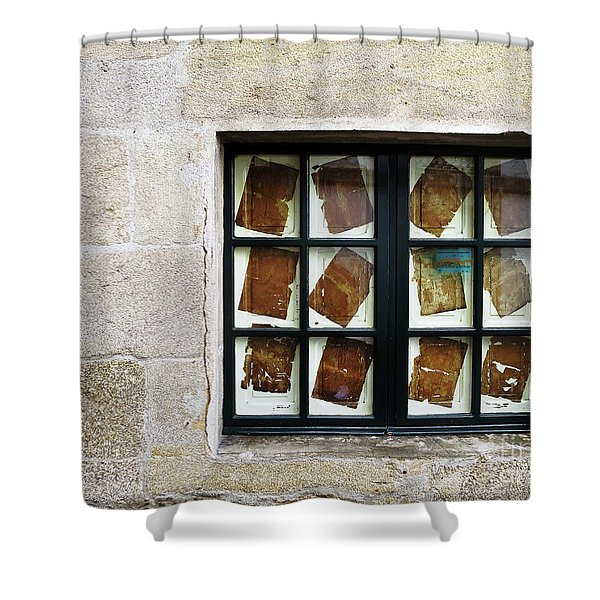 Parchment Panes Shower Curtain