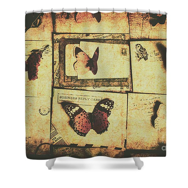 Parchment Post Carriers Shower Curtain