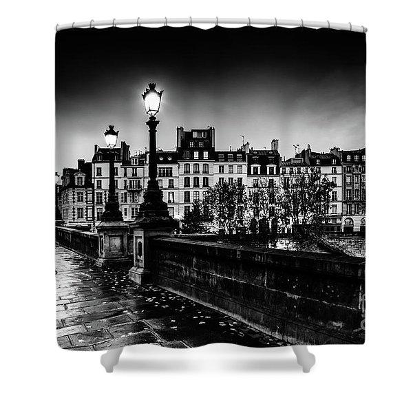 Paris At Night - Pont Neuf Shower Curtain