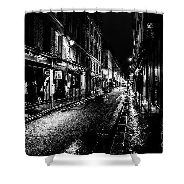 Paris At Night - Rue De Vernueuil Shower Curtain