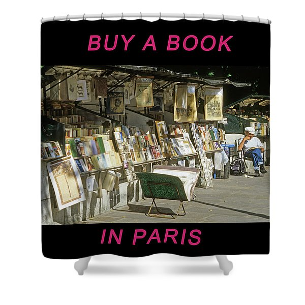 Paris Bookseller Shower Curtain