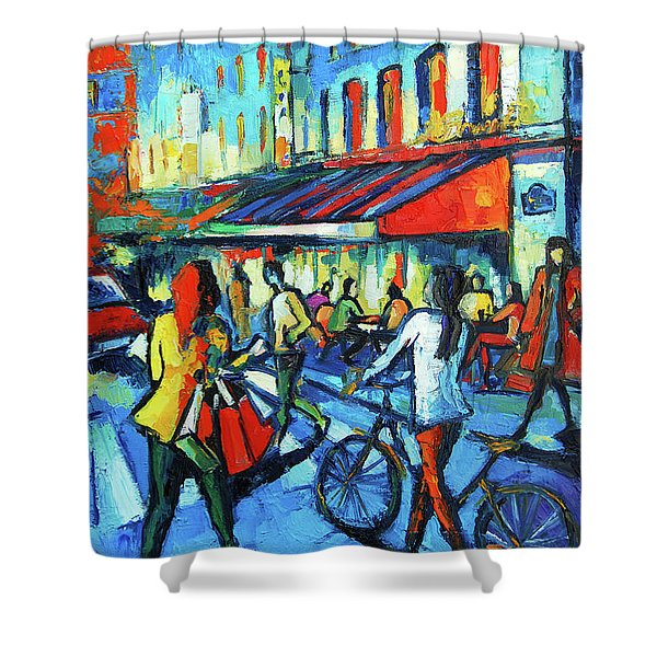 Paris Cafe Le Bonaparte Shower Curtain
