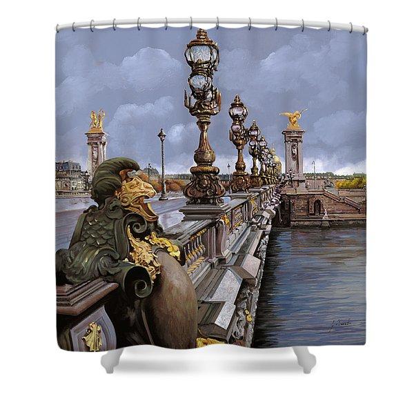 Paris-pont Alexandre Terzo Shower Curtain