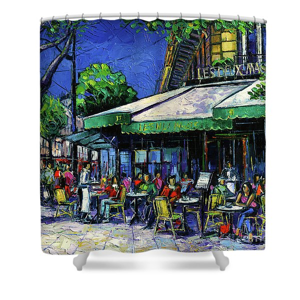 Parisian Cafe Shower Curtain
