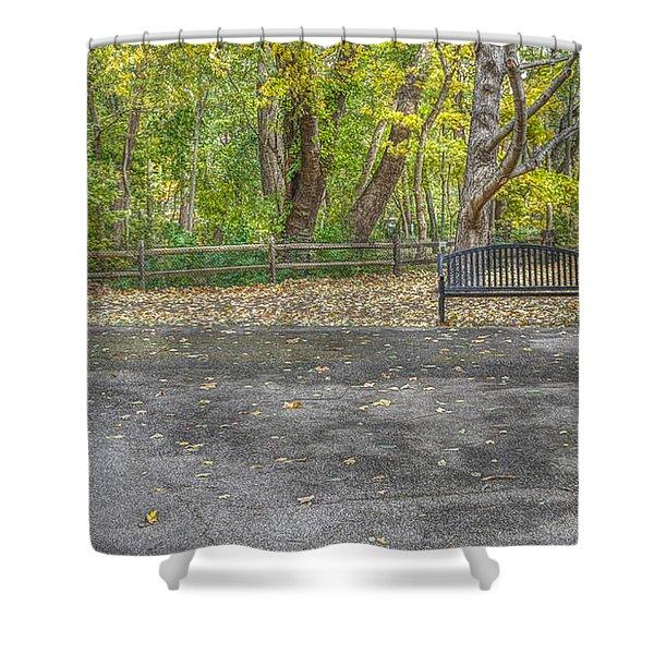 Park Bench @ Sharon Woods Shower Curtain