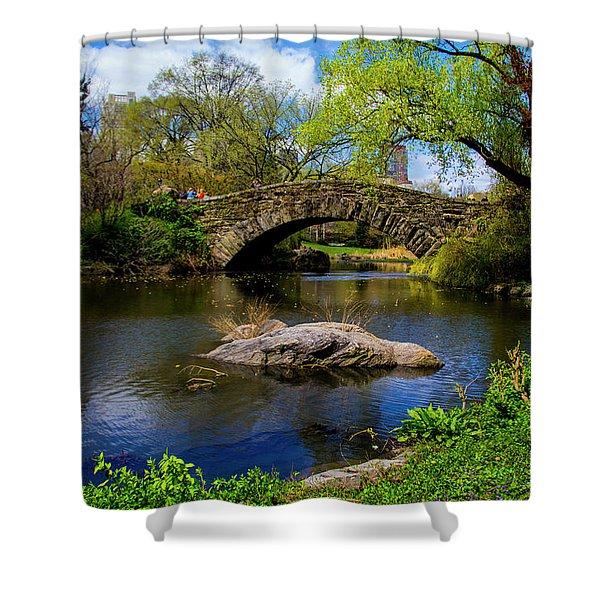 Park Bridge2 Shower Curtain