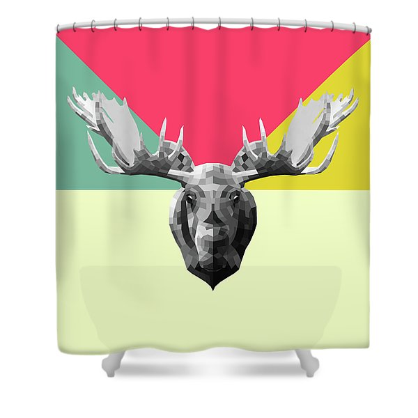 Party Moose Shower Curtain